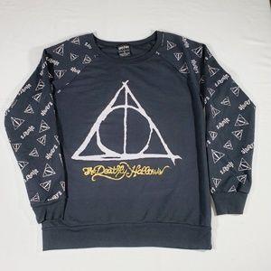 Harry Potter Black Pullover Black Sweater Size 14